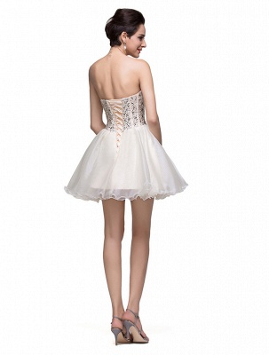 Gorgeous Sweetheart Crystal Short Homecoming Dress UK Tulle_2