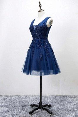 Beautiful Sleeveless lace-up Short homecoming Dress UK Lace Appliques Tulle BA3782_7