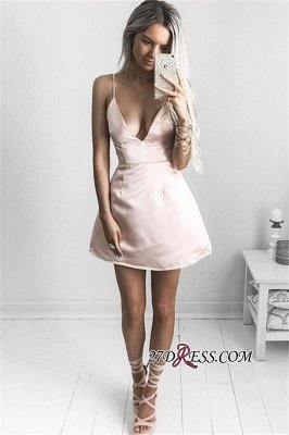 V-neck Short Prom Dress UK | Sexy Homecoming Dress UK On Sale_2