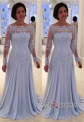 Long-Sleeve Lace A-line Sexy Mother-the-bride Dress UK_2