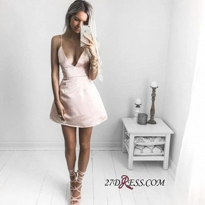 V-neck Short Prom Dress UK | Sexy Homecoming Dress UK On Sale_3