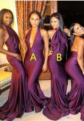 Sexy Bridesmaid Dress UK | Mermaid Backless Wedding Reception Bridesmaid Dress UK_1