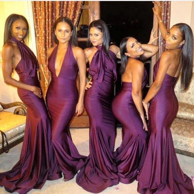 Sexy Bridesmaid Dress UK | Mermaid Backless Wedding Reception Bridesmaid Dress UK_3