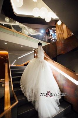Ball-Gown Short-Sleeves Lace Chic Elegant Court-train Scoop Neckline Wedding Dress_2