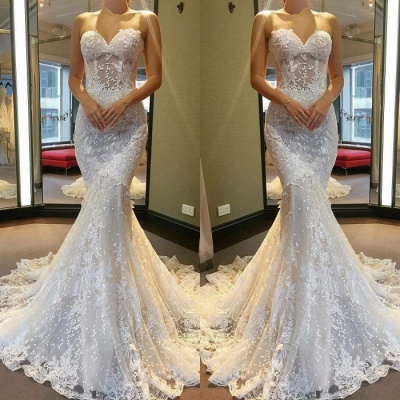 Gorgeous Sweetheart Wedding Dress | Lace Sexy Mermaid Bridal Gowns_3