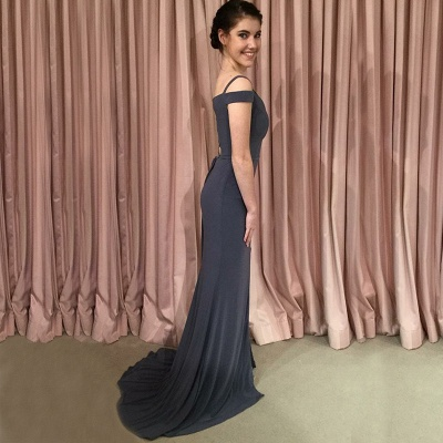 Off-the-shoulder mermaid prom Dress UK, lace-up evening Dress UK_5