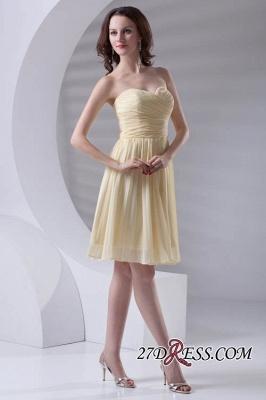 Short A-line Sleeveless Ruffles Sweetheart Newest Bridesmaid Dress UK_4