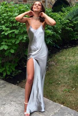 Elegant Front Split Prom Dress UK Floor-length Sleeveless BA6079_1