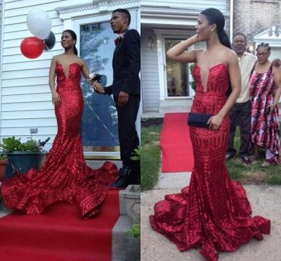 Elegant Sequined Sleeveless Bodycon Prom Dress UK   Red Prom Dress UK BK0_3