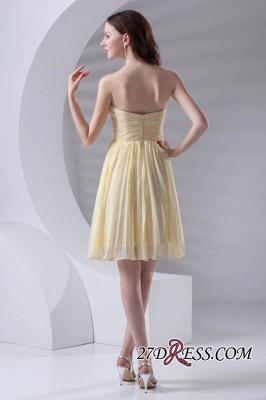 Short A-line Sleeveless Ruffles Sweetheart Newest Bridesmaid Dress UK_3