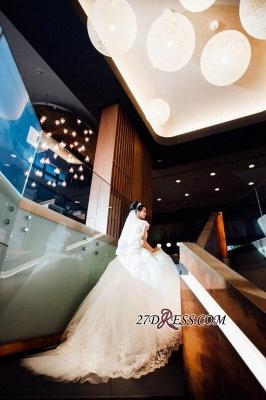 Ball-Gown Short-Sleeves Lace Chic Elegant Court-train Scoop Neckline Wedding Dress_3