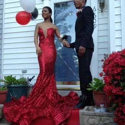 Elegant Sequined Sleeveless Bodycon Prom Dress UK   Red Prom Dress UK BK0_4