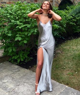 Elegant Front Split Prom Dress UK Floor-length Sleeveless BA6079_3