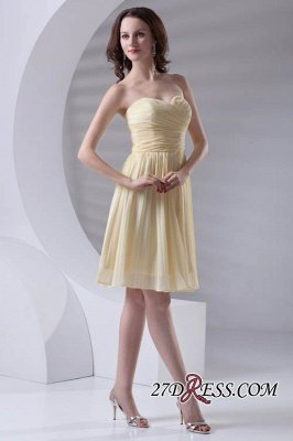 Short A-line Sleeveless Ruffles Sweetheart Newest Bridesmaid Dress UK_4