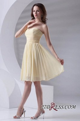 Short A-line Sleeveless Ruffles Sweetheart Newest Bridesmaid Dress UK_6