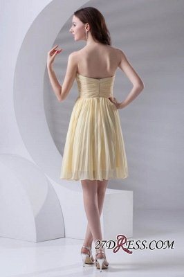 Short A-line Sleeveless Ruffles Sweetheart Newest Bridesmaid Dress UK_3
