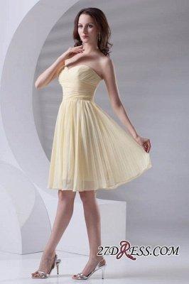 Short A-line Sleeveless Ruffles Sweetheart Newest Bridesmaid Dress UK_5