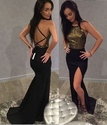 Chic Long Sequins Prom Dress UK Mermaid Split Party Gowns On Sale BA9371_3