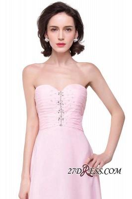 Chiffon Beadings Sweetheart Simple A-Line Hi-Lo Prom Dress UKes UK_4