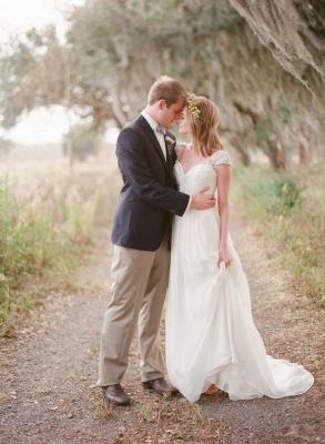 Elegant Cap Sleeve Lace Wedding Dress Long  Sweetheart_6