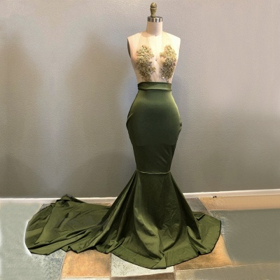 Halter Lace Appliques Prom Dress UK   Mermaid Evening Gowns RM0_3
