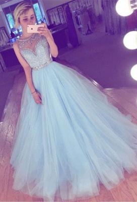Tulle crystal prom Dress UK, evening Dress UK long_1