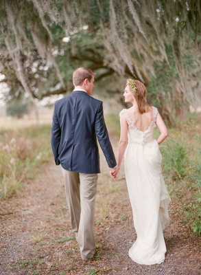 Elegant Cap Sleeve Lace Wedding Dress Long  Sweetheart_3
