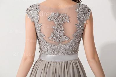 Modern Lace Appliques Chiffon Evening Dress UK Cap Sleeve_3