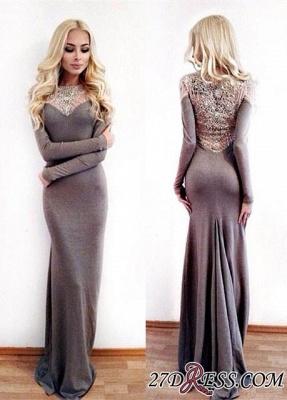 Mermaid Lace Floor-Length Gorgeous Long-Sleeve Designer Evening Dress UK BA4008_2