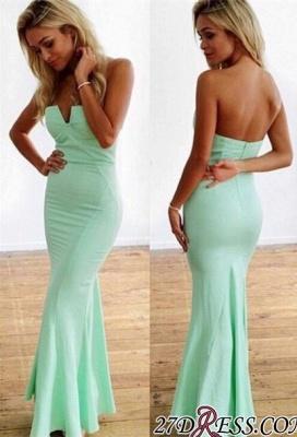 Mermaid Floor-Length Sweetheart Mint Sleeveless Elegant Zipper Prom Dress UKes UK_2