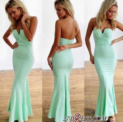 Mermaid Floor-Length Sweetheart Mint Sleeveless Elegant Zipper Prom Dress UKes UK_1