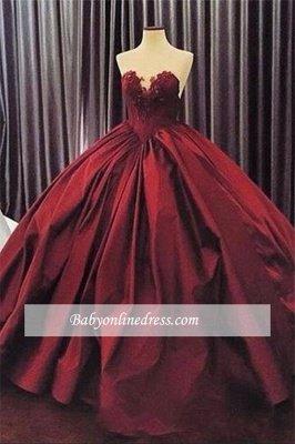 Appliques Ball-Gown Elegant Sweetheart Sleeveless Prom Dress_3