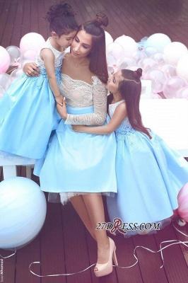 Appliques Elegant White Sleeveless Lace Flower-Gril Dresses_3