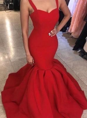 Sexy Sweetheart Red Evening Dress UK | 2019 Mermaid Long Formal Dress UK_1