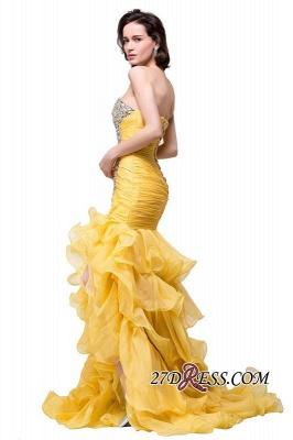 Side-Slit Mermaid Crystal Sexy Ruffles Sweetheart Prom Dress UKes UK_1