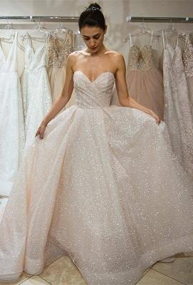 Sweetheart Sequins Wedding Dress | Sweetheart Princess Wedding Reception Dress_1