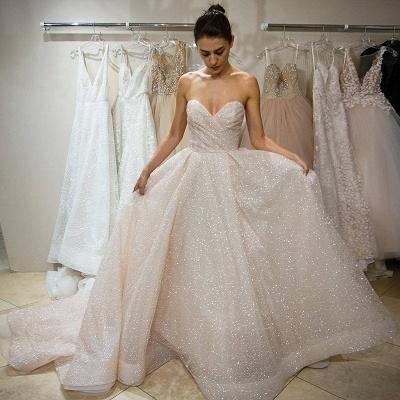 Sweetheart Sequins Wedding Dress | Sweetheart Princess Wedding Reception Dress_3