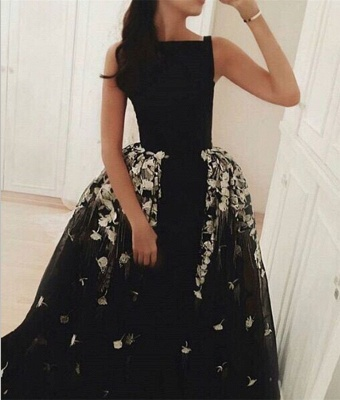 Gorgeous Long Overskirt Party Dress UK Appliques Tulle Evening Gown_3
