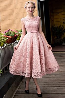 Gorgeous Beadings Lace A-Line Lace-up Tea-Length Homecoming Dress UKes UK_1