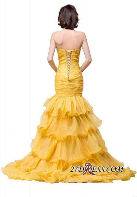 Side-Slit Mermaid Crystal Sexy Ruffles Sweetheart Prom Dress UKes UK_5