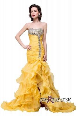 Side-Slit Mermaid Crystal Sexy Ruffles Sweetheart Prom Dress UKes UK_6