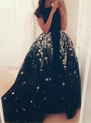 Gorgeous Long Overskirt Party Dress UK Appliques Tulle Evening Gown_1