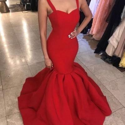 Sexy Sweetheart Red Evening Dress UK | 2019 Mermaid Long Formal Dress UK_4
