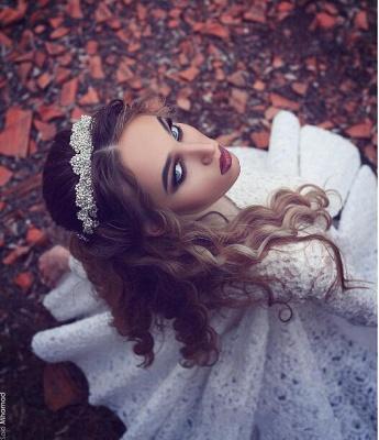 White Long-Sleeves Short Gorgeous Full-Lace Homecoming Dress UK BA3645_3