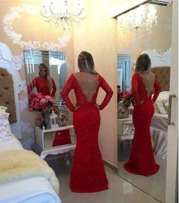 Gorgeous Jewel Mermaid Red Pom Dress UK Long Sleeve With Beadings_3