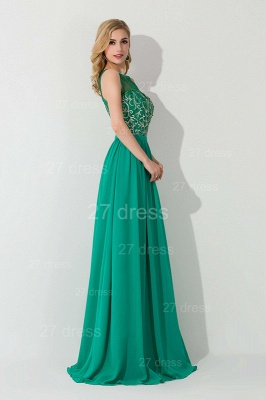 Modern Illusion Sleeveless A-line Evening Dress UK Chiffon Crystals_3
