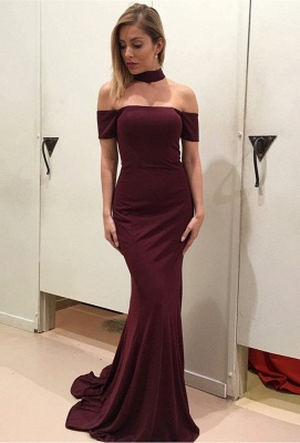 Luxury Short Sleeve Prom Dress UK | Wine Red Long Evening Gowns_1