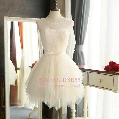 Sexy Mini A-Line Tulle Sleeveless Homecoming Dress UKes UK_1
