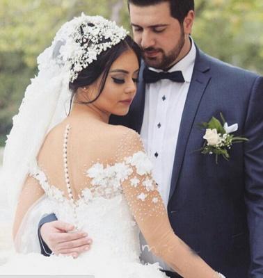 Elegant Off the Shoulder Ball Gown Wedding Dresses UK Tulle_5