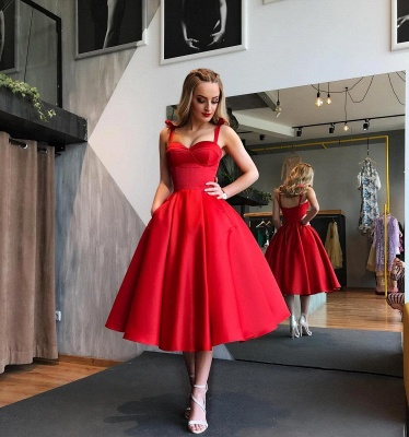 Sexy Sweetheart Red Short Prom Dress UK | 2019 Tea-Length Homecoming Dress UK_4